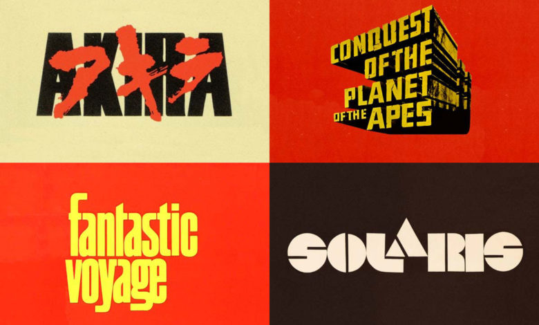 Photo of Science Fiction Movie Lettering